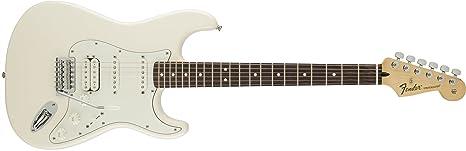 Fender 0144700502 Standard Stratocaster HSS - Guitarra eléctrica para diapasón (madera de palisandro, color