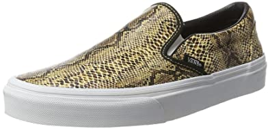 vans slip on damen gold