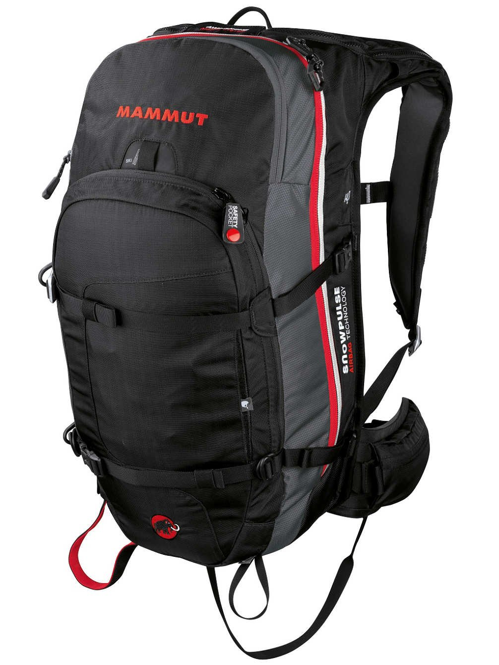elegant shoes reputable site best wholesaler Mammut Pro Protection Airbag avalanche backpack Black black/white Size:33 x  21 x 53 cm