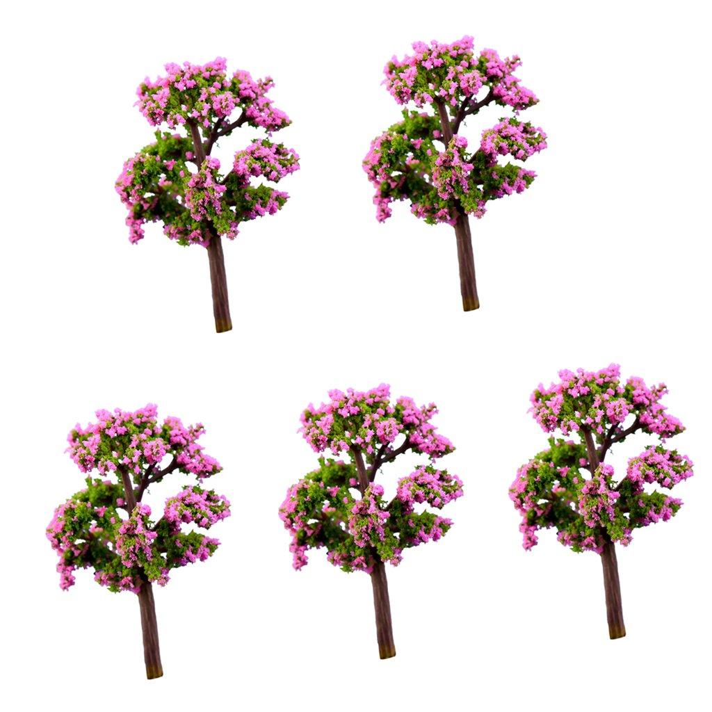 5pcs Miniature Statue Resin Tree Bonsai DIY Craft Fairy Moss Landscape #10