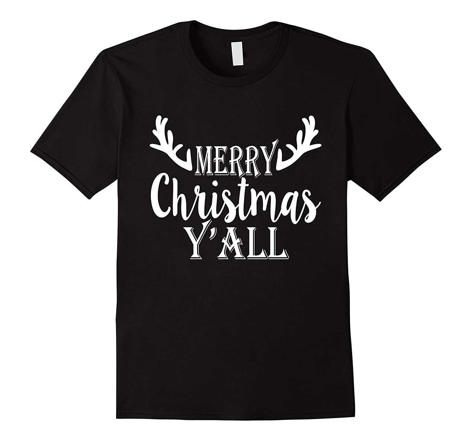 Cute Country Merry Christmas Y'all Reindeer Gift T-Shirt-Art