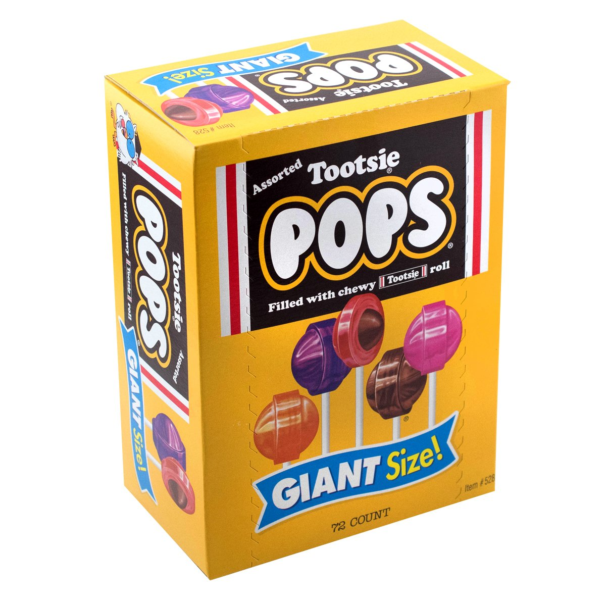 Tootsie Pops Giant Size, 72 Count, 3.82 Pounds