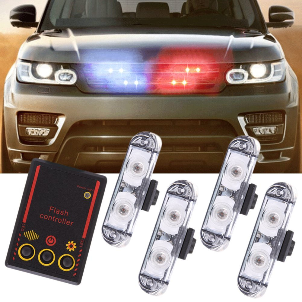 Molie 12V 2LED Mini LED Flash StrobeCar Police Emergency warning Light High Brightness Car Styling 3 Flashing Fog lights