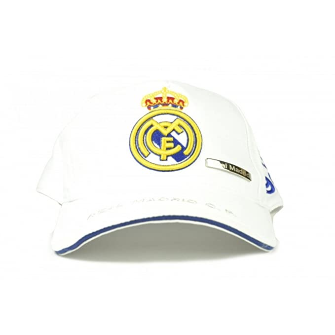 Real Madrid CF - Gorra clásica Oficial de Real Madrid CF (Talla Única/Blanco): Amazon.es: Ropa y accesorios
