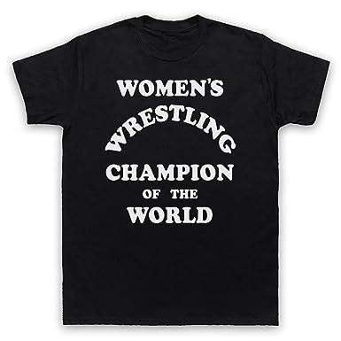 7f362ebc Women's Wrestling Champion Of The World Mens T-Shirt: Amazon.co.uk ...