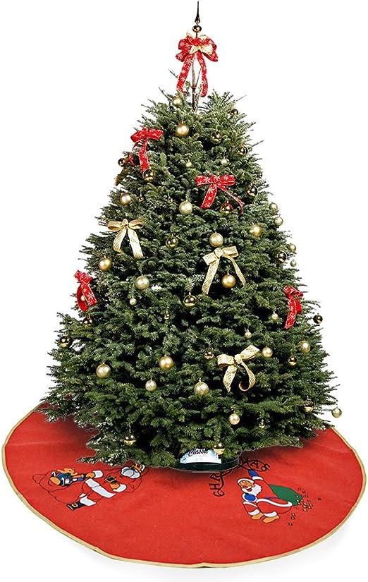 Okaytec Falda de Árbol de Navidad con 4 Figuras de Papá Noel ...