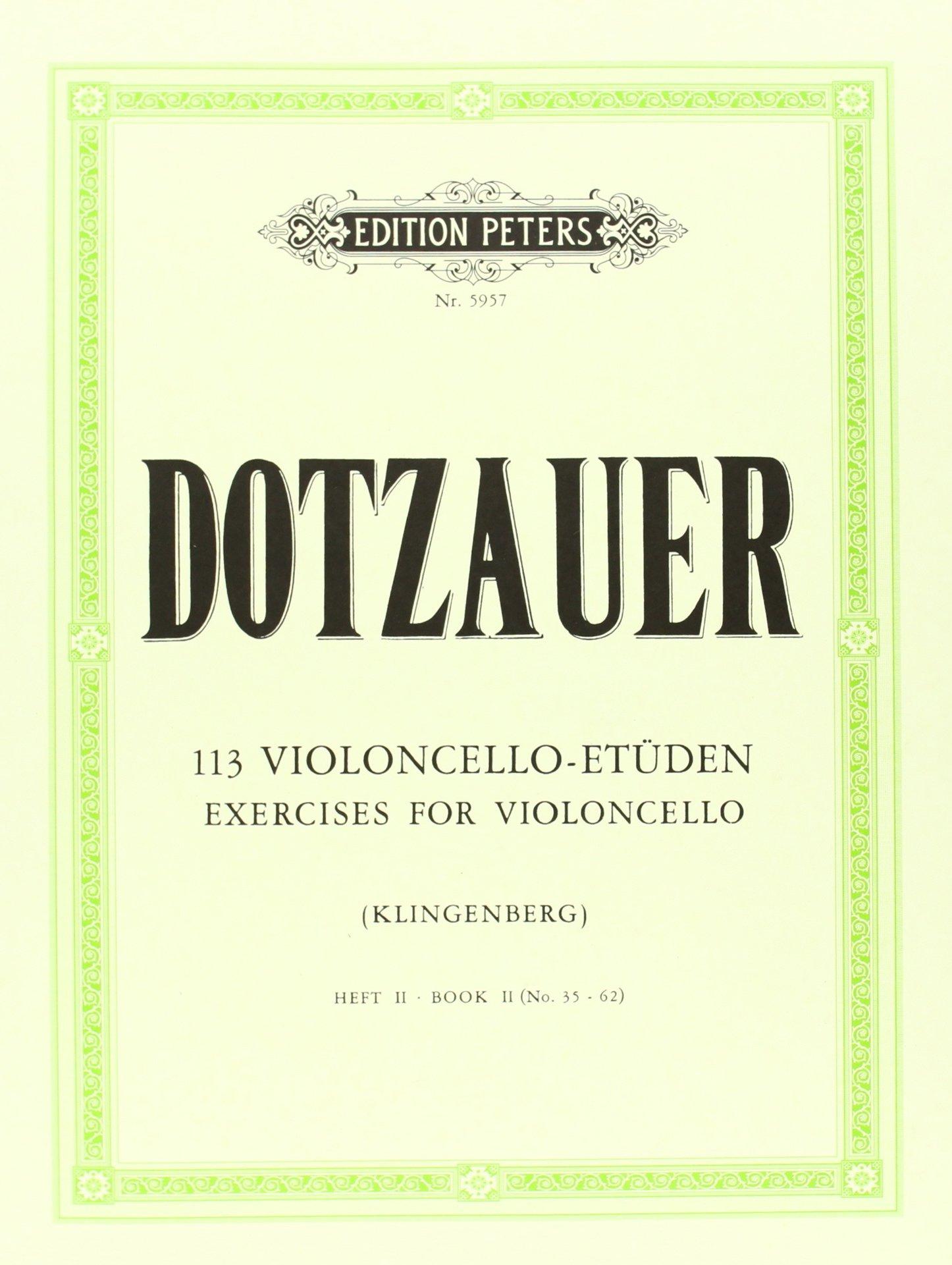 113 Violoncello-Etüden - Heft 2: Nr. 35 - 62 Broschüre – 1. Januar 2000 Johannes Klingenberg Peters C. F. Musikverlag B000ZG6TYU