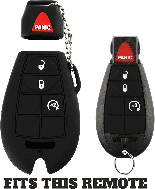 2x Key Fob Keyless Entry Remote Cover Protector for Jeep Dodge Chrysler M3N5WY783X, IYZ-C01C, GQ4-53T, Fobik