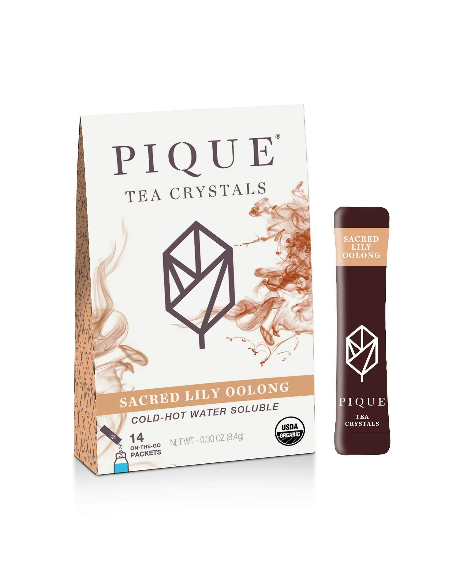 Pique Tea Organic Oolong Tea Crystals - Healthy Metabolism, Immune Support, Healthy Digestion - 1 Pack (14 Sticks)