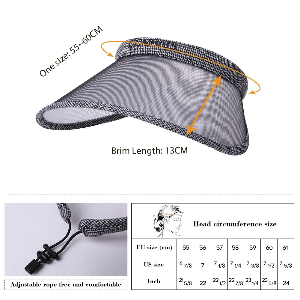 f2a7ba789a06c2 Clip On Visor Sun Hat UV Protection Women Wide Brim Travel Hat Gardener  Open Golf Top Stylish Pink SiggiHat at Amazon Women's Clothing store: