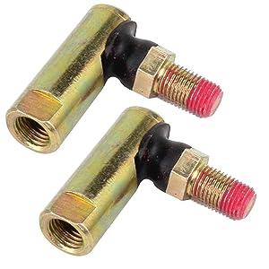 Caltric 2 Pack TIE Rod Ends Compatible with Cub Cadet 1212 1600 1800 LT LTX LGT LGTX GTX GT SLT SLTX