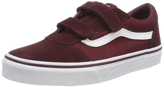 Vans Ward Sneakers Jungen / Kinder mit Klettverschluss Rot Port Royale