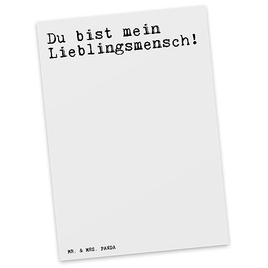 Mr Mrs Panda Postkarte Mit Spruch Du Bist Mein Lieblingsmensch
