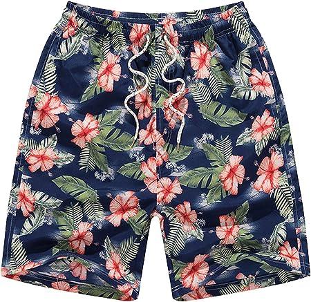 Bañador Hombre Secado Rápido Pantalones Corto Deporte Bermudas Trajes de Baño Playa Shorts