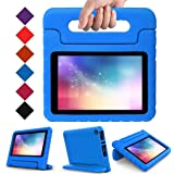 2017 New Fire 7 Case - LTROP Portable Shock Proof Fire 7 Tablet Case for Kids (7th Generation, 2017 Release) - Blue