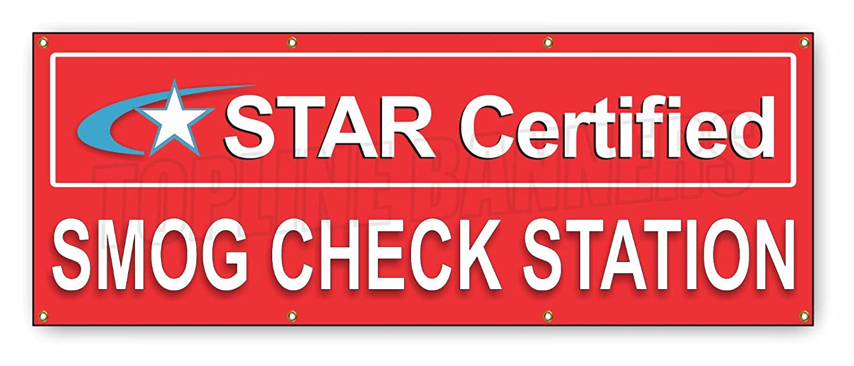 Amazon 4 Ft X 10 Ft Smog Check Star Certified Banner Vinyl
