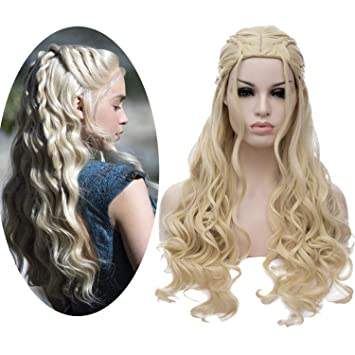 70797a025ff Blonde Wig for Women Daenerys Targaryen Wig Khaleesi Cosplay Wigs for Game  of Thrones Long Wavy...