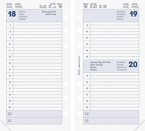 Calendario Timing.Brunnen 107490218 Cinghia Sistema Ad Anelli Calendario Timer