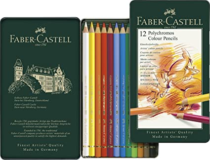 amazon com faber castell polychromos artists color pencils 12pc