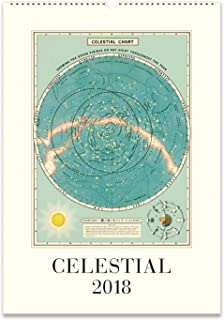 cavallini papers celestial 2018 wall calendar