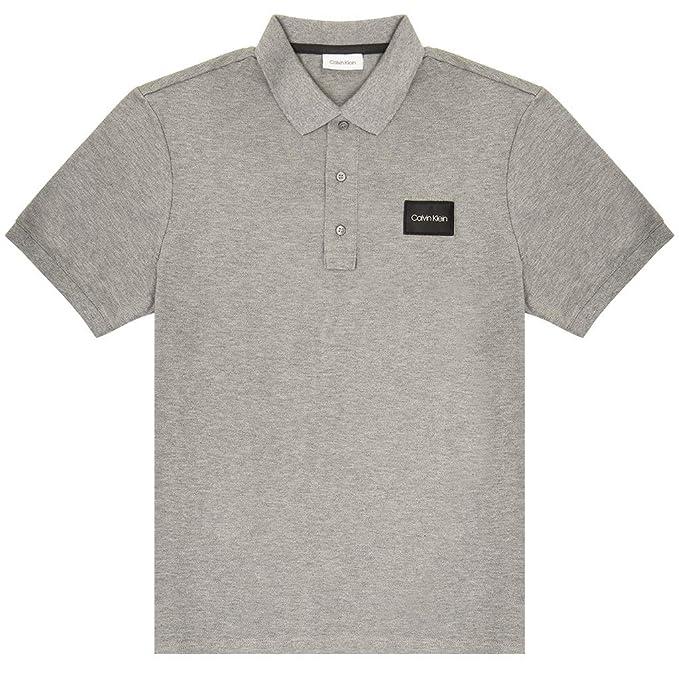 Calvin Klein - Polo para Hombre con Logotipo de Pique Contrast ...