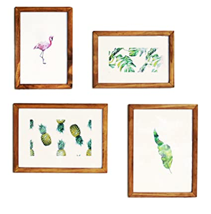 Amazoncom Rustic Picture Frames Collage Wood Vintage Wall Photo