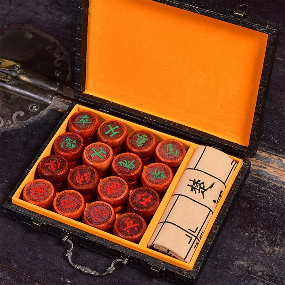1 Set Wooden Chinese Chess 32 Pieces with Box Chess Chess Game