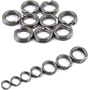 200pcs Stainless Steel Split Ring with Box Double Ring Connector Fishing UUMW