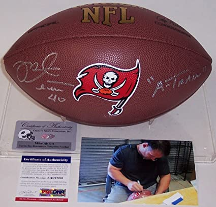 pretty nice 4421b 646d1 Mike Alstott Autographed Hand Signed Tampa Bay Bucs Logo ...