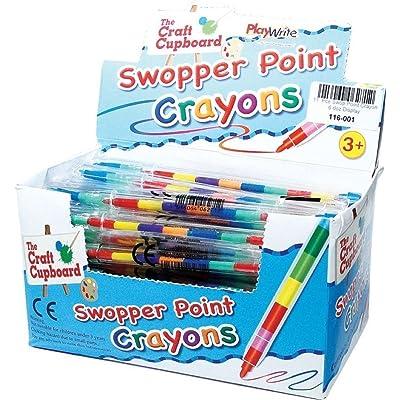 12 x Swop Punto Lápices de cera: Juguetes y juegos