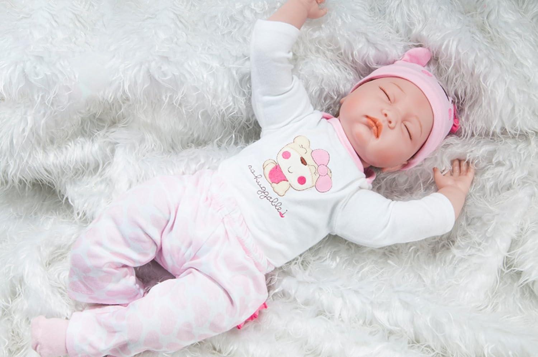 67a46115d10a Juguetes y juegos YIHANGG 22 Pulgadas Reborn Baby Dolls Realista Hecho A  Mano De Silicona Recién Nacido Muñeca Realista De Simulación Suave ...