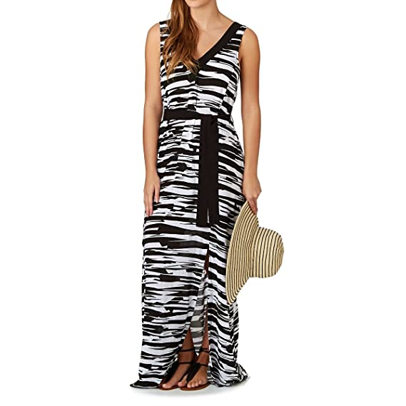 d7bf41ac81 Seafolly Black and White Beach Dress Step it up Maxi: Amazon.co.uk: Clothing