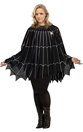 Amazon.com: Spider Web Poncho Plus Size Costume (Plus Size): Clothing