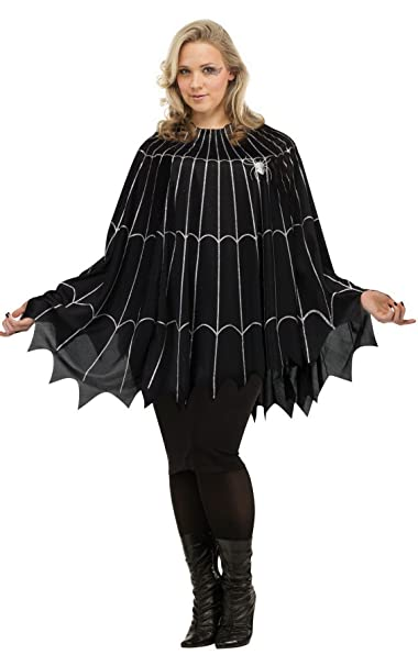 54908c1291534 Fun World Women's Spider Web Poncho Plus Size Costume, Multi, Standard