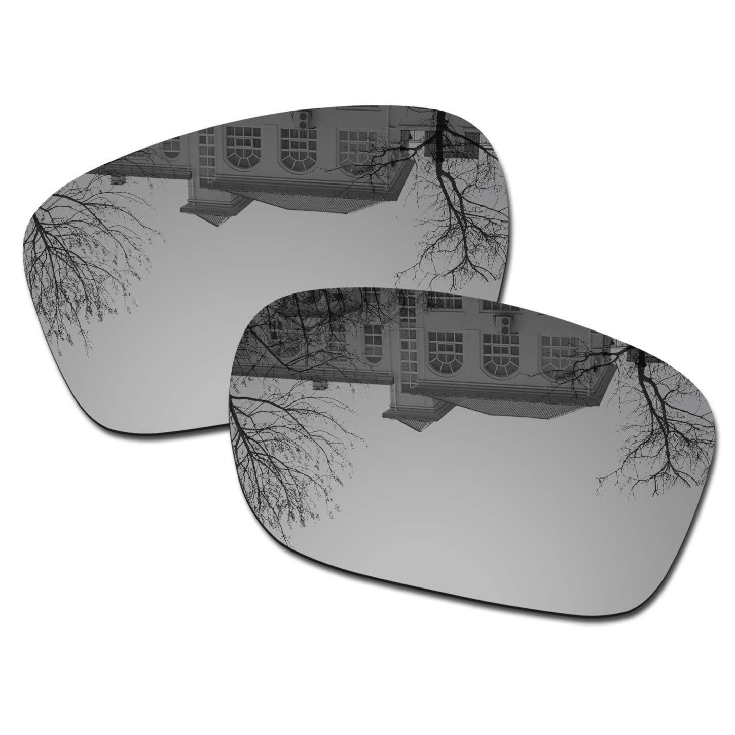 Millersawp Holbrook OO9102 Replacement Lenses Compatiable with Oakley Sunglass-Silver Iridium by Millersawp