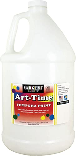 Sargent Art, White Art-Time Tempera Paint, Gallon, 1 Gallon