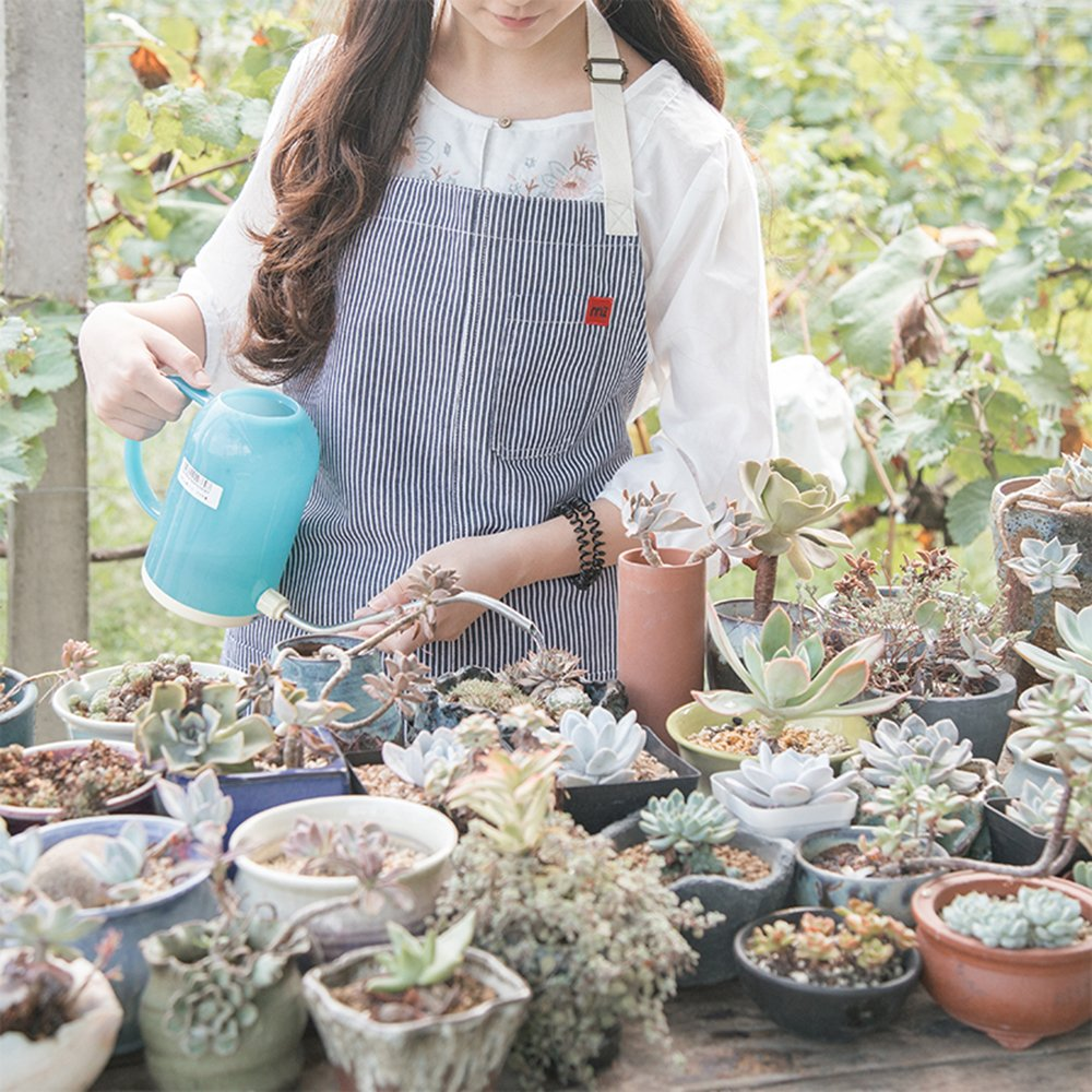 Mi Full Length Classic Striped Cotton Apron Barista Florist Gardener Carpenter Work Wear