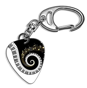 Amazon.com: Piano Keys & Music Notes Logo Guitar Pick ...
