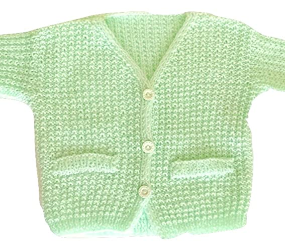 a61fc8f05b5d Amazon.com  Toddler Baby Hand Knit Long Sleeve Green Jacket