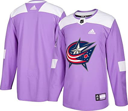 hot sales b9a99 86c7d adidas Columbus Blue Jackets Hockey Fights Cancer Authentic Pro Jersey
