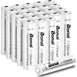 BONAI 1100mAh AAA Rechargeable Batteries 24 Pack,BONAI 1100mAh 1.2V Ni-MH Rechargeable AAA Batteries high Capacity…