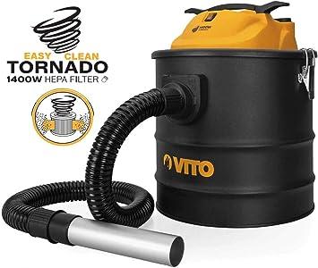 Aspirador de cenizas de Vito Tornado 1400 W 18L Filtro HEPA ...