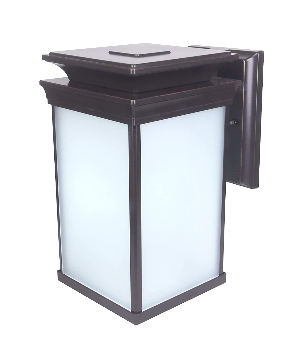 ETL and Energy Star Rated CD-W015-850LED 12.5W Water-Proof 1000 Lumen Aluminum Housing Plus Glass CORAMDEO Outdoor LED Wall Lantern Wall Sconce as Porch Light Fixture