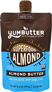 product image for Superfood Almond Butter by Yumbutter, Gluten Free, Vegan, Non GMO, 6.2oz Pouch