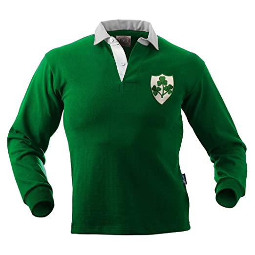 045f59ea22b Amazon.com: Halbro Ireland Old Style Rugby Jersey: Sports & Outdoors