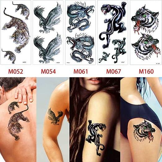 tzxdbh 5 Piezas/Juego de Pegatinas de Tatuajes geniales Cuerpo ...
