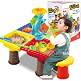 Studyset 1 Set Children Beach Table Sand Play Toys Set Baby Water Sand Dredging Tools Colour Random