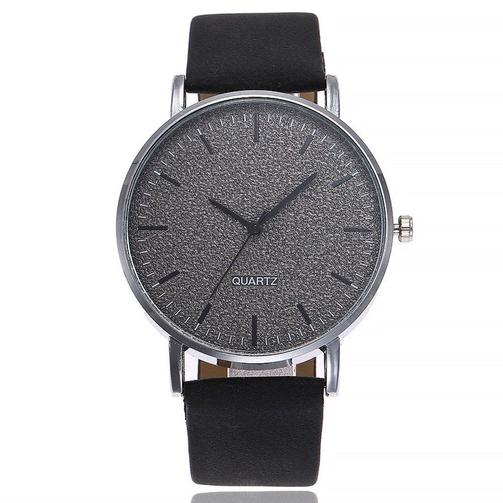 Snowfoller Ladies Watch Women Stainless Steel Alloy Glass Dial Leather Band Watch Quartz Wrist Watch Bracelet