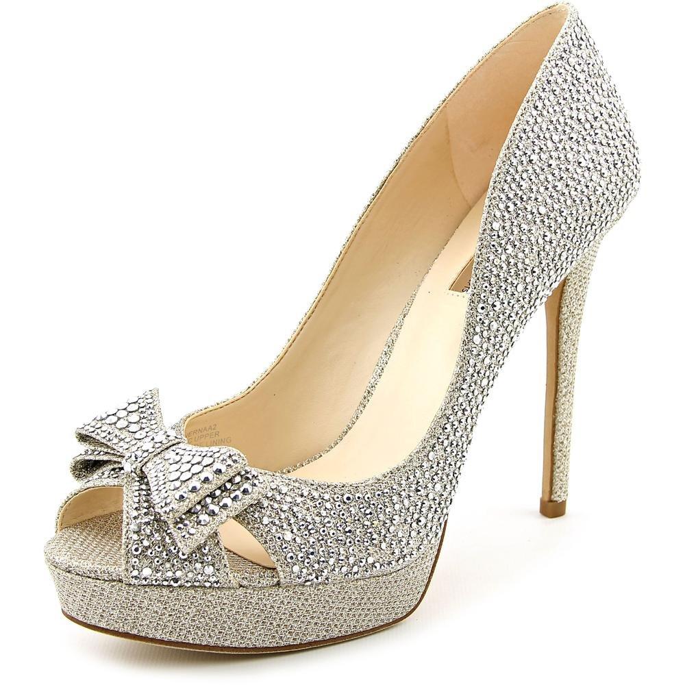 INC International Concepts Womens Vernaa Peep Toe Classic Pumps B01FOHFSNW 9.5 B(M) US|Gold/Champagne