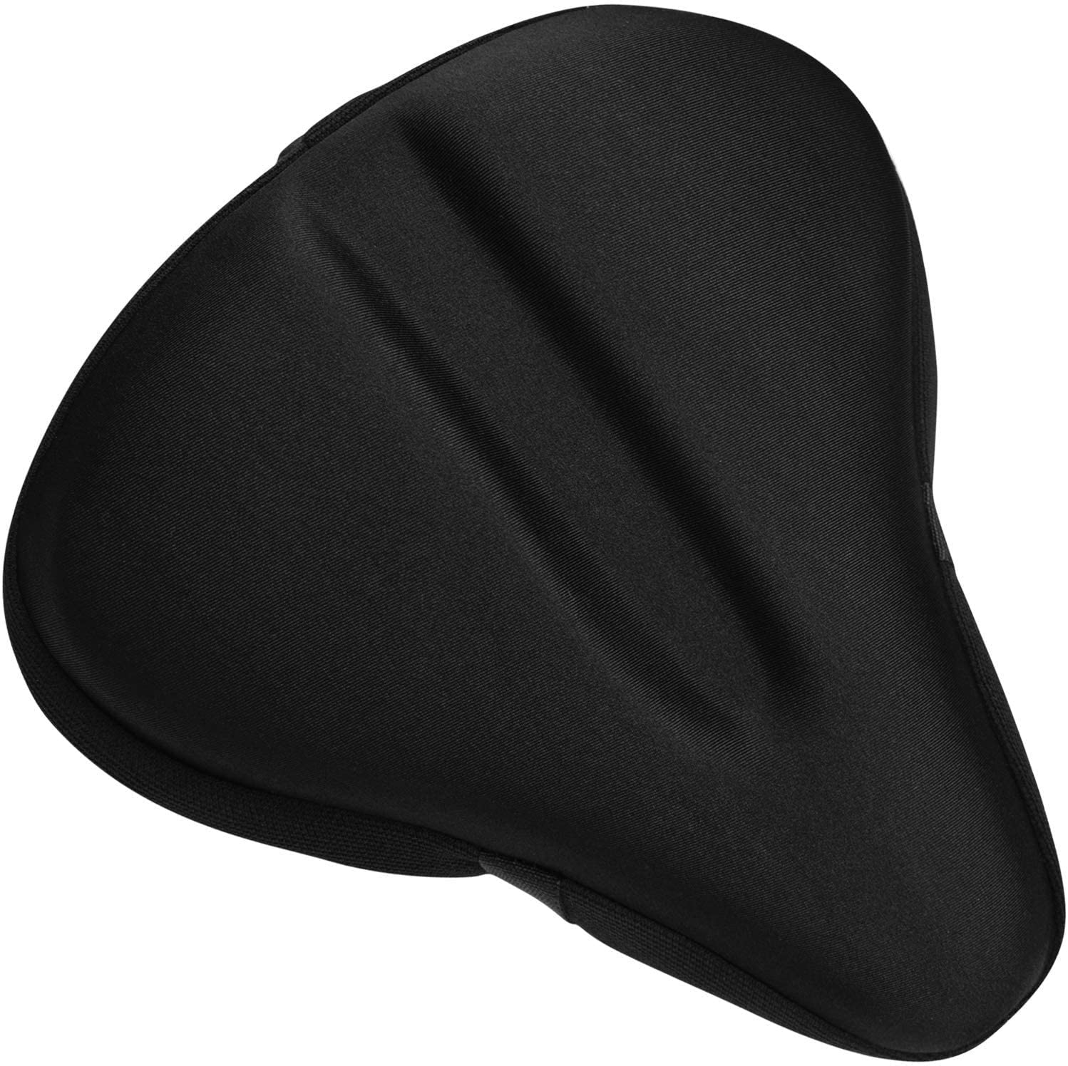 XunHe Bike Seat Cover Padded Non-slip Thick Silicone Bicycle Saddle Cushion Cover Breathable Lightweight Comfortable Cover Suitable for Mountain and Road Bike Seat(28x18cm)
